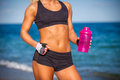 Torso of athletic fitness woman close up Stock Photos