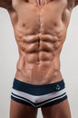 Torso with six pack Stock Photos