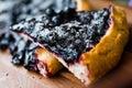 Tort z czarną jagodą Fotografia Royalty Free