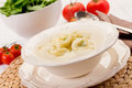 Tortellini in Broth Royalty Free Stock Photography