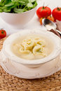 Tortellini in Broth Stock Photography