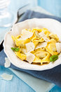 Tortellini with grana padano cheese Royalty Free Stock Photo