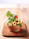 Tortellini with pesto and sauce Royalty Free Stock Photography