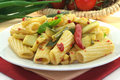 Tortiglione with fiery chili zucchini Royalty Free Stock Image