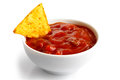 Tortilla chip and dip. Royalty Free Stock Photo