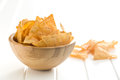 Tortilla chips in bowl Royalty Free Stock Photo
