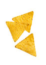 Tortilla chips crunchy corn close up Royalty Free Stock Photos