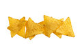 Tortilla chips crunchy corn close up Royalty Free Stock Photography