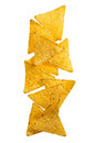 Tortilla chips crunchy corn close up Royalty Free Stock Images