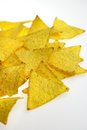 Tortilla chips some on light background Stock Photography