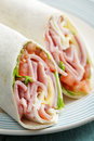 Tortilla roll-ups Royalty Free Stock Photo