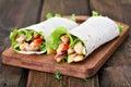 Tortilla wraps Royalty Free Stock Photo