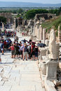 Toruists in ephesus- izmir-turkey Stock Photography