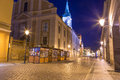 Torun old town at night poland Stock Photos