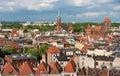 Torun panorama, Poland Royalty Free Stock Photo