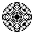 Torus Yantra, Hypnotic Eye sacred geometry basic element Royalty Free Stock Photo