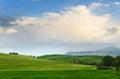 Toscana tuscany landscape view italy Stock Image