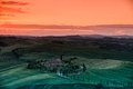 Toscana view on tuscan hills near siena in sunset Royalty Free Stock Image