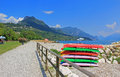 Toscolano beach garda lake italy idyllic italian tourist resort Stock Photo
