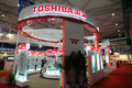 Toshiba booth Royalty Free Stock Photo