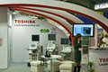 Toshiba booths at medical exhibition Royalty Free Stock Photo