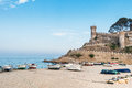 Tossa de mar at afternoon in summertime Stock Images