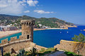 Tossa de Mar bay view. Stock Images