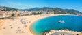 Tossa de Mar beach. Costa Brava, Catalonia, Spain Royalty Free Stock Photo