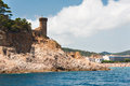 Tossa de Mar beach with Fortress Royalty Free Stock Image