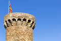 Tossa de mar castle in Royalty Free Stock Photography