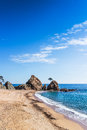 Tossa de mar costa brava beach in a sunny day Stock Photography