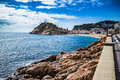 Tossa de mar costa brava beach in a sunny day Royalty Free Stock Images