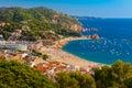 Tossa de Mar on the Costa Brava, Catalunya, Spain Royalty Free Stock Photo