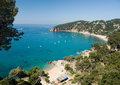 Tossa de mar small beach near Royalty Free Stock Photos