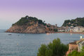 Tossa de mar town and castle of costa brava catalonia spain Royalty Free Stock Images