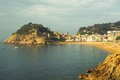 Tossa de mar view on the beach of in spain Royalty Free Stock Photos