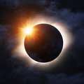 Total eclipse Royalty Free Stock Photo
