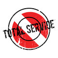 Total Service rubber stamp