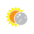 Total Solar Eclipse Icon on August 8, 2017