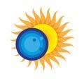Total Solar Eclipse Icon Augus...
