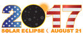 2017 Total Solar Eclipse Over USA Numeral vector Illustration