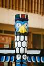 Totem pillar painted on the wood in tropical island Royalty Free Stock Photo