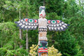 Totem pole historic by ancient native indian americans Royalty Free Stock Photo