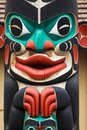 Totem pole at North America Royalty Free Stock Photo
