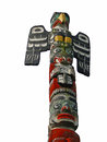 Totem pole topped  by thunderbird, Royalty Free Stock Image