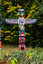 Totem Poles at Stanley Park, Vancouver, BC. Royalty Free Stock Photo