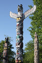 Totem Poles, Vancouver Royalty Free Stock Photography
