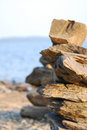 Totem of rocks Royalty Free Stock Photography