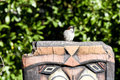 Sparrow On Totem Top