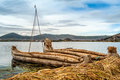 Totor boats at island los uros titicaca lake Stock Photography
